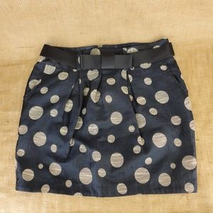 Charlotte Russe Women Mini Skirt Polka Dot
